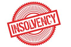 Insolvency typographic stamp. Typographic sign, badge or logo Stock Photos
