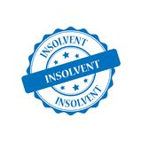 Insolvent stamp illustration. Insolvent blue stamp seal illustration design Stock Images