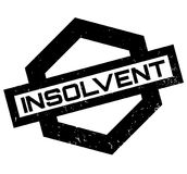 Insolvent rubber stamp. Grunge design with dust scratches. Effects can be easily removed for a clean, crisp look. Color is easily changed Royalty Free Stock Images