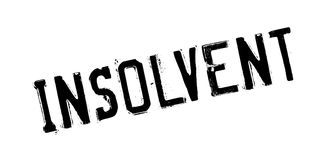 Insolvent rubber stamp. Grunge design with dust scratches. Effects can be easily removed for a clean, crisp look. Color is easily changed Stock Photo