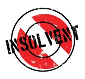 Insolvent rubber stamp. Grunge design with dust scratches. Effects can be easily removed for a clean, crisp look. Color is easily changed Stock Images