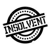 Insolvent rubber stamp. Grunge design with dust scratches. Effects can be easily removed for a clean, crisp look. Color is easily changed Royalty Free Stock Image