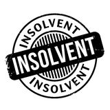 Insolvent rubber stamp Royalty Free Stock Images
