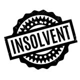 Insolvent rubber stamp Royalty Free Stock Photos