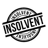 Insolvent rubber stamp Stock Photos