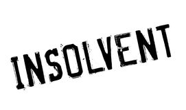 Insolvent rubber stamp Stock Images