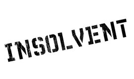 Insolvent rubber stamp Stock Image