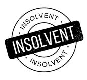 Insolvent rubber stamp. Grunge design with dust scratches. Effects can be easily removed for a clean, crisp look. Color is easily changed Royalty Free Stock Photo