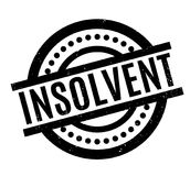 Insolvent rubber stamp. Grunge design with dust scratches. Effects can be easily removed for a clean, crisp look. Color is easily changed Stock Image