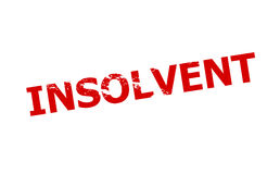 Insolvent. Rubber stamp with word insolvent inside,  illustration Royalty Free Stock Images
