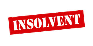 Insolvent. Rubber stamp with word insolvent inside, vector illustration Royalty Free Stock Images