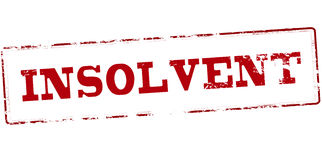 Insolvent. Rubber stamp with word insolvent inside, vector illustration Stock Photo