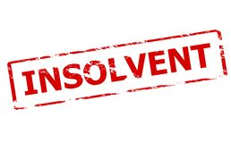 Insolvent. Rubber stamp with word insolvent inside,  illustration Royalty Free Stock Image