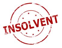 Insolvent. Rubber stamp with word insolvent inside,  illustration Royalty Free Stock Photography