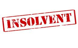 Insolvent. Rubber stamp with word insolvent inside,  illustration Stock Photo