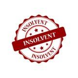 Insolvent stamp illustration. Insolvent red stamp seal illustration design Stock Photo