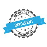 Insolvent stamp illustration. Insolvent stamp seal illustration design Royalty Free Stock Photos