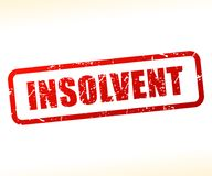 Insolvent text stamp. Illustration of insolvent text stamp Royalty Free Stock Photography