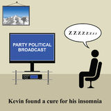 Insomnia. Kevin found a cure for his insomnia Stock Illustration