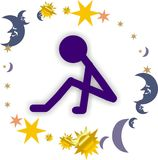 Insomnia. People stay awake during night due to sever insomnia caused by stress Royalty Free Stock Images
