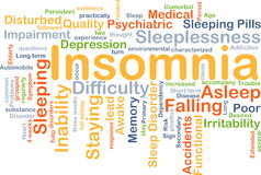 Insomnia background concept Royalty Free Stock Photography
