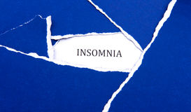 Insomnia Blues Stock Photos