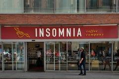 Insomnia Coffee Company公司存储在都伯林 库存图片