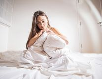 Insomnia depressed woman Royalty Free Stock Photo