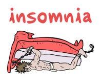 Insomnia illustration Stock Images