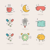 Insomnia Line Icons Stock Photo