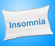 Insomnia Pillow Means Trouble Sleeping And Cushion Royalty Free Stock Image