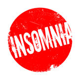 Insomnia rubber stamp Stock Photography