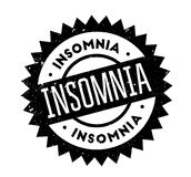 Insomnia rubber stamp. Grunge design with dust scratches. Effects can be easily removed for a clean, crisp look. Color is easily changed Royalty Free Stock Image
