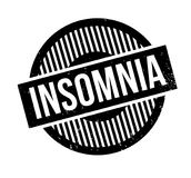 Insomnia rubber stamp. Grunge design with dust scratches. Effects can be easily removed for a clean, crisp look. Color is easily changed Royalty Free Stock Photos
