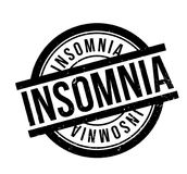 Insomnia rubber stamp. Grunge design with dust scratches. Effects can be easily removed for a clean, crisp look. Color is easily changed Stock Image