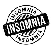 Insomnia rubber stamp. Grunge design with dust scratches. Effects can be easily removed for a clean, crisp look. Color is easily changed Stock Images