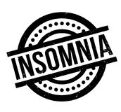 Insomnia rubber stamp. Grunge design with dust scratches. Effects can be easily removed for a clean, crisp look. Color is easily changed Royalty Free Stock Photography
