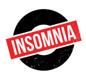 Insomnia rubber stamp. Grunge design with dust scratches. Effects can be easily removed for a clean, crisp look. Color is easily changed Stock Photo