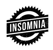 Insomnia rubber stamp. Grunge design with dust scratches. Effects can be easily removed for a clean, crisp look. Color is easily changed Royalty Free Stock Photo