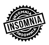 Insomnia rubber stamp. Grunge design with dust scratches. Effects can be easily removed for a clean, crisp look. Color is easily changed Stock Photography