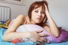Insomnia Sleepiness Depressed Royalty Free Stock Photography