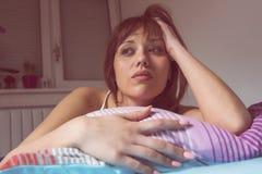 Insomnia Sleepiness Depressed Stock Photo