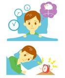 Insomnia, sleeplessness, man. Insomnia sleeplessness man  file Royalty Free Stock Images