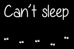 insomnie illustration libre de droits