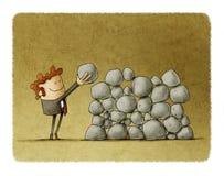 Inspanning en succes in zaken vector illustratie