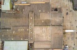Inspeção aérea do telhado do zangão Imagens de Stock