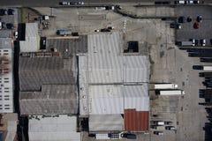 Inspeção aérea do telhado do zangão Fotos de Stock Royalty Free