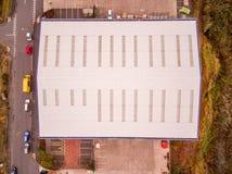 Inspeção aérea do telhado do zangão Fotos de Stock