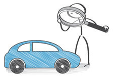 Inspección auto stock de ilustración