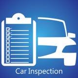 Inspección del coche Imágenes de archivo libres de regalías